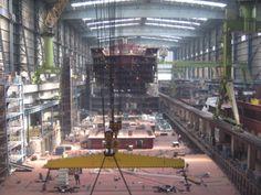 Mester Bielefeld - Kreuzfahrtschiff im Bau - kaum zu glauben, wenn man das so sieht.