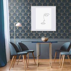 7 Art Deco Interior Design Tips Do you want to add a bit of elegance to your home? Then why not add a touch of the iconic Art Deco? Here are 7 Art Deco touches that will liven up your house. Salon Art Deco, Art Deco Stil, Modern Art Deco, Interior Design Tips, Interior Styling, Interior Inspiration, Interiores Art Deco, Flur Design, Art Deco Wallpaper