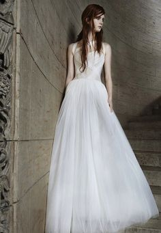 The latest Vera Wang wedding dress collection for Spring 2015 is edgy, deconstructed and beautiful.