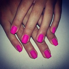 #pink matte nails