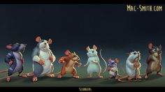 moar mice, Mac Smith on ArtStation at https://www.artstation.com/artwork/1LWyX