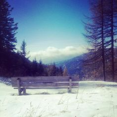 """See 171 photos and 8 tips from 950 visitors to Bad Kleinkirchheim. """"Nice to have some rest in the deck chairs at the mountain top on a sunny day. Deck Chairs, Berg, Outdoor Furniture, Outdoor Decor, Sunny Days, Four Square, Nice, Snow, Fall"""
