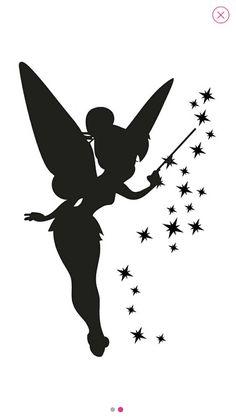 42 En Iyi Melek Peri 2 Geçici Dövmeler Görüntüsü Fairy Silhouette