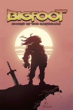 Cover of Bigfoot Sword of the Earthman, written by my friend Josh S. Henaman. If you like pulp adventure stories, this comic is for you. Follow on Facebook for the latest Bigfoot news: https://www.facebook.com/BigfootSwordoftheEarthman
