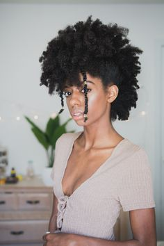 Frohawk on 4c natural hair - @PrettyLittleFro