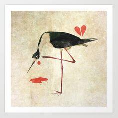 it's over Art Print by Dearcandy Tech Accessories, Birds, Art Prints, Painting, Design, Printable Art, Art Production, Necklaces, Girls