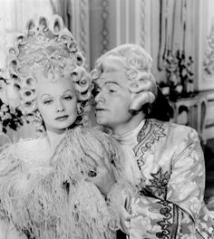 Lucille Ball and Red Skelton looking gorg and fab and right at home in the 18thC. DuBarry was a Lady was a 1943 Technicolor film, starring Red Skelton, Lucille Ball, and Gene Kelly, and released by Metro-Goldwyn-Mayer. It is based on the 1939 stage musical of the same name. The Louis XV - Mme Du Barry scenes, unlike the play, featured very little singing. (Although the cheese souffle song is a bit of a sad giggle!)
