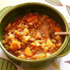 Легкий суп из чечевицы