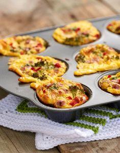 Enkle omelettmuffins - LINDASTUHAUG Omelette Muffins, Egg Muffins, Norwegian Food, Norwegian Recipes, Tapas, Nom Nom, Side Dishes, Brunch, Food And Drink