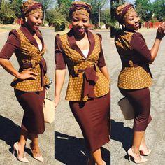 new shweshwe traditional dresses 2019 African Print Dress Designs, African Print Dresses, African Print Fashion, African Dress, African Wear, Couples African Outfits, African Attire, Seshweshwe Dresses, Wedding Dresses