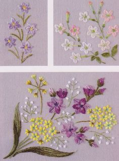 flower in my garden hand embroidery stitch sewing   Embroidery
