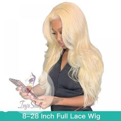 Blonde Colored Remy Brazilian Body Wave Wigs Price: 101.07 & FREE Shipping #hashtag2 Brazilian Body Wave, Brazilian Hair, Body Wave Wig, Wave Hair, Moisturize Hair, Permed Hairstyles, Shoulder Length Hair, Blonde Color, 100 Human Hair
