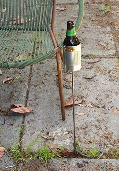 Hobo Tin Can Beer Holder/ Garden Drink Holder.