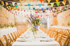 Here was our wedding. Bunting, barn, garden flowers. Fountains Abbey – Wedding Photography Preview