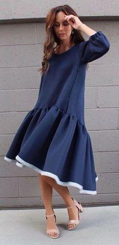 Выкройка платья «трапеция с оборкой и перепадом» 40-64 фото1