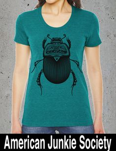 Womens BEETLE t-shirt american apparel S M L XL (7 Color Options) by AmericanJunkieSoc on Etsy