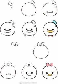Easy Doodles Drawings, Easy Disney Drawings, Easy Doodle Art, Mini Drawings, Cute Easy Drawings, Simple Doodles, Pencil Art Drawings, Art Drawings Sketches, Kawaii Drawings
