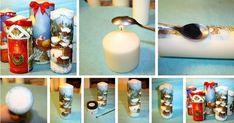 Dekoracje - Świąteczne świece - ręcznie robione