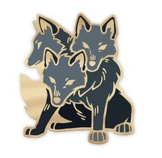 Ever wanted to have your very own three-headed doggo? With this hard enamel pin you can make such a dream your reality! This precious pup will stand guard wherever you station him - on your jacket lapel/handbag/flower crown! Jacket Pins, Pastel Outfit, Hard Enamel Pin, Cool Pins, Metal Pins, Pin And Patches, Pin Badges, Lapel Pins, Pin Collection