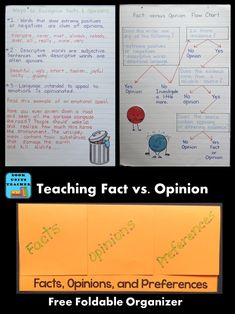 Teaching students to understand the differences between fact and opinion is essential. Teaching Critical Thinking, Help Teaching, Student Teaching, Creative Teaching, Teaching Resources, Teaching Ideas, 5th Grade Activities, Reading Activities, Reading Skills