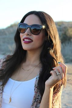 Dressy Chick wearing our gold necklaces!