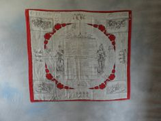 Early French military instruction handkerchief 1870's by FrenchVintageLife on Etsy