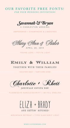 34 Free Calligraphy Script Fonts For Wedding Invitations