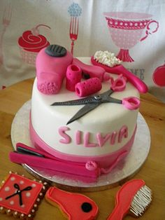 hair dresser cake design - Google Search