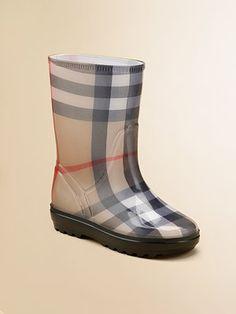 Little girls' rain boots by Burberry