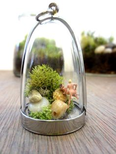 Hurry Up, People are Watching...MATURE CONTENT Terrarium Necklace Funny Miniature Nude Naughty Naked Man and Woman Sexy Terrarium Necklace