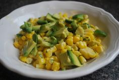 "Vegan Crunk: Grilled Corn and Avacado salad. ""It's what summer should taste like..."""