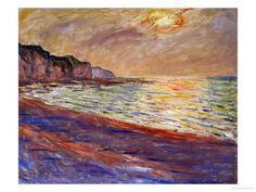 Beach at Pourville, Sunset, 1882 Giclee Print at AllPosters.com
