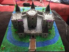 3doodled castle I just finished! I love how it came out. Bulk is ABS w PLA scenery on a canvas board w acrylic paint.  By Megen Leigh
