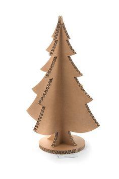 Albero di Natale In Cartone Lessmore H 45cm Avana