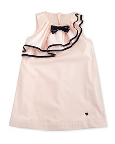Sleeveless Ruffle-Trim Shift Dress, Orchid, Size 2-8 by Armani Junior at Neiman Marcus.