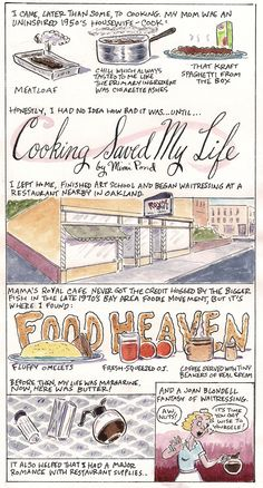 """This week's recipe comic comes to us from Mimi Pond, LA Times cartoonist and writer of the premiere episode of The Simpsons. In it, she tells us how she learned to cook and gives us a recipe for wiener schnitzel, a.k.a. """"The World's Most Beloved Dish of All Time."""""""