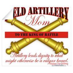Army Field Artillery Mom FA Wall Decal