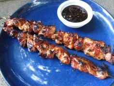 Street Style Chicken on a Stick with Teryaki Bourbon Glaze