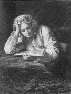 Werther, Stahlstich von Lazarus G. Sichling nach Friedrich Pecht, 1864 116 (Ex. Privatbesitz)