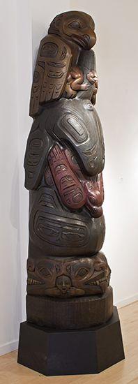 Killer Whale Totem - Preston Singletary | Blue Rain Gallery / Santa Fe New Mexico