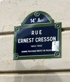 La rue Ernest-Cresson (Paris 14ème)