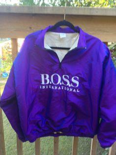 HUGO BOSS International Pullover Windbreaker by RetroFreshTees, $22.00