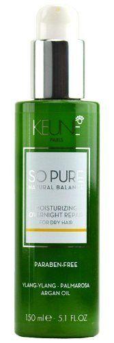 Keune So Pure Natural Balance Moisturizing Overnight Repair - 5.1 oz by Keune,