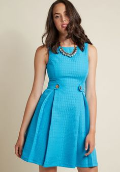 So Sixties A-Line Dress in Turquoise