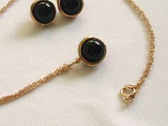 Gold Black Pearl Pendant Wire Wrapped Jewelry Handmade by IOStudio