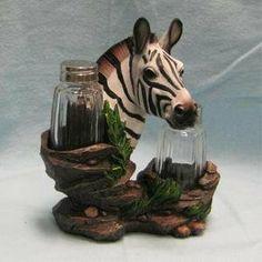 "Zebra Salt and Pepper Shaker Holder Figurine by DWK. $14.90. Made of Polyresin. 6.5"" Height. Zebra Salt and Pepper Shaker Set. Highly Detailed. Zebra Salt and Pepper Shaker. Made of Polyresin Material. Perfect for Kitchen Decor."