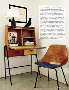 Mid Century Modern living room #vintagedecor #vintageinspiration
