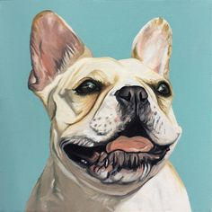 Commissioned pet portrait painted by artist, Nathan Rhoads. Oil on canvas. Home Decor. Unique Animals, Animals Beautiful, Animal Paintings, Animal Drawings, French Bulldog Art, Animal Wallpaper, Pictures To Paint, Pet Portraits, Hand Painted