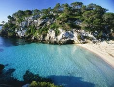 Macarella - Menorca What an amazing beach. Ibiza Travel, Spain Travel, Places To Travel, Places To See, Balearic Islands, Exotic Places, Majorca, Holiday Destinations, Places Around The World