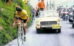 Luis Ocaña climbing Puy de Dome, 18th stage of Tour de France. 20th July 1973